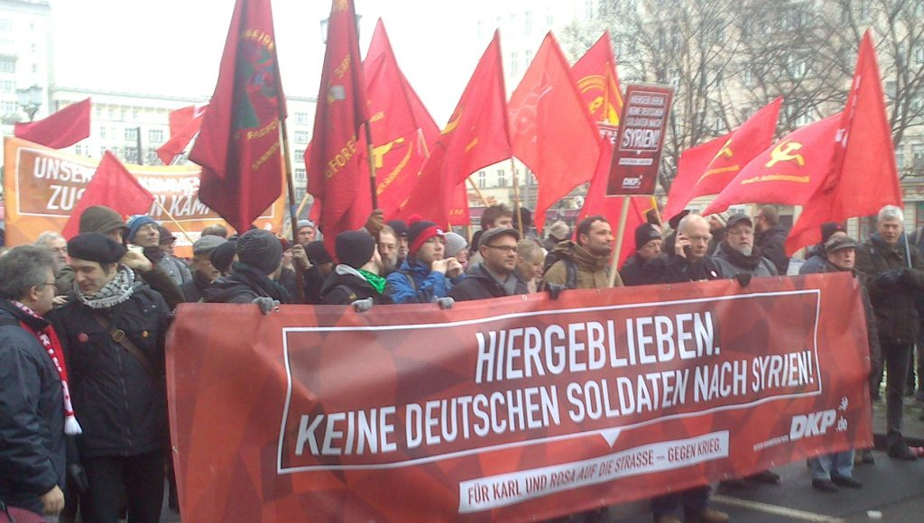 DKP-Block auf der LL-Demonstration 2016